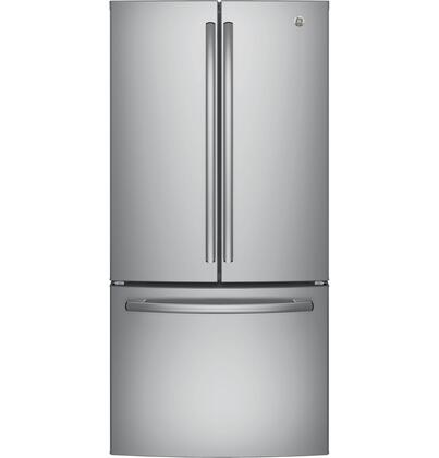 GE  GNE25JSKSS French Door Refrigerator Stainless Steel, Main image