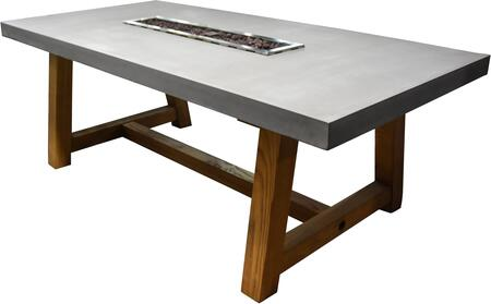 OFG201-LP Workshop Dining Table with Electronic Ignition with Auto Safety Shut-Off  45000 BTU per hour  in Cast