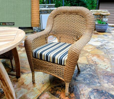 Sea Pines Collection LEX-DC-M-RAVES Dining Chair in Mojave Wicker and Rave Spearmint Fabric
