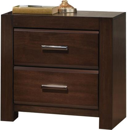 Acme Furniture Oberreit 25793 Nightstand Brown, Angled View