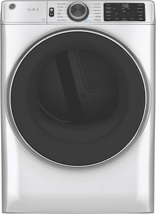 GE  GFD65ESSNWW Electric Dryer White, Front View