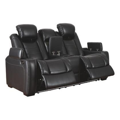 Signature Design by Ashley Party Time 3700318 Loveseat Black, Main Image