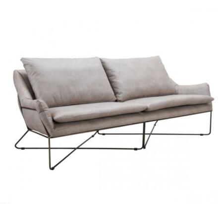 Zuo Finn 101004 Living Room Sofa Gray, 101004 Front