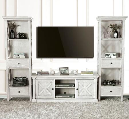 Furniture of America Georgia CM5089TV60SET2PIER Entertainment Center White, Main Image