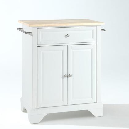 Crosley Furniture Lafayette KF30021BWH Kitchen Island White, KF30021BWH W1