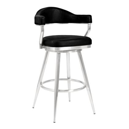 Armen Living Amador LCJTBABSVB26 Bar Stool Black, LCJTBABSVB26 side