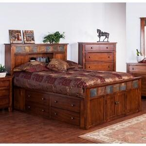 Sunny Designs Santa Fe 2334DCSEK Bed Brown, Santa Fe Eastern King Bed