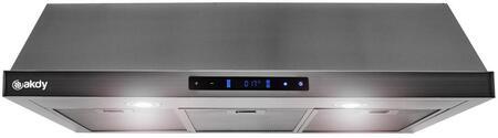 AKDY RH0490 Under Cabinet Hood Black Stainless Steel, 1