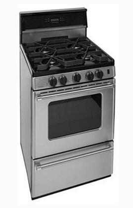 Premier Pro Series P24S3402PS Freestanding Gas Range Stainless Steel, Angled View