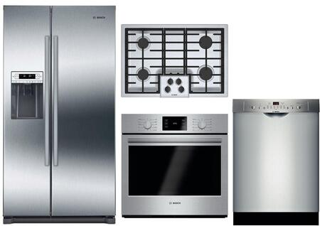 Bosch  1005993 Kitchen Appliance Package Stainless Steel, main image