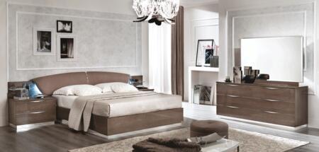 ESF Platinum PLATINUMBEDKS2NSDRMR Bedroom Set Brown, PLATINUMBEDKS-2NSDRMR