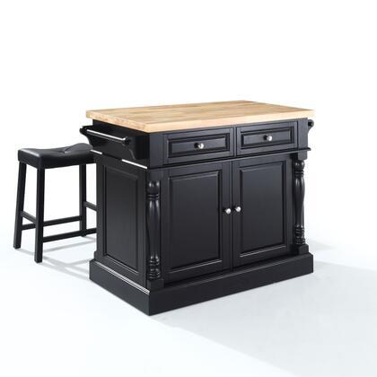 Crosley Furniture Oxford KF300064BK Kitchen Island Black, KF300064BK W1