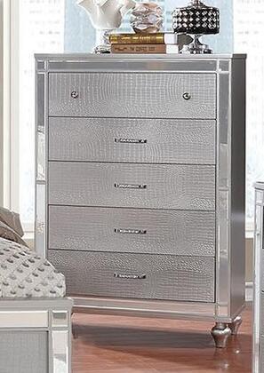 Furniture of America Brachium CM7977SVC Chest of Drawer Silver, Chest