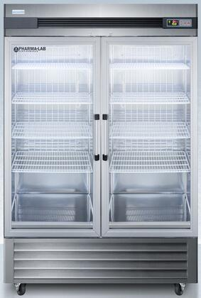 ARG49ML 49 Cu. Ft. Upright Pharmacy Refrigerator With Glass Doors  Temperature Alarm  Forced Air Cooling And Adjustable Temperature In