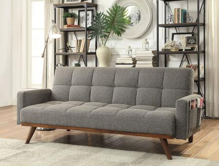 Furniture of America Nettie CM2605 Sofa Bed Gray, Main Image