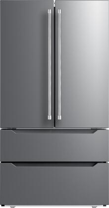 VERF36CDSS 36″ Stainless Steel Counter Depth 4-Door French Door Refrigerator with 22.49 cu. ft. Capacity  Automatic Defrost  LED Lighting and Auto