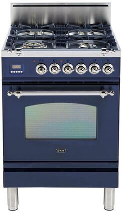 Ilve Nostalgie UPN60DVGGBLX Freestanding Gas Range Blue, Main Image