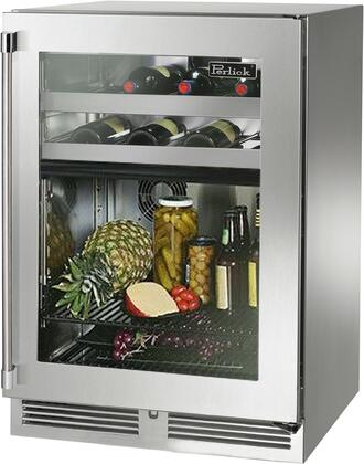 """HP24CS-4-3R 24"""" Signature Series Indoor Dual Zone Refrigerator/Wine Reserve with 5.0 cu. ft. Capacity RAPIDcool Forced-air System Stainless Steel"""