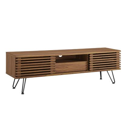 Modway Render EEI4587WAL 52 in. and Up TV Stand Brown, EEI 4587 WAL 1