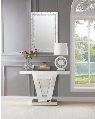 Acme Furniture Nysa 900642SET Console Silver, Console Table and Mirror