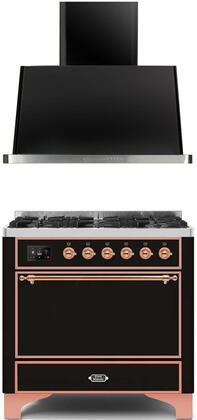 Ilve  1260014 Kitchen Appliance Package Black, Main image