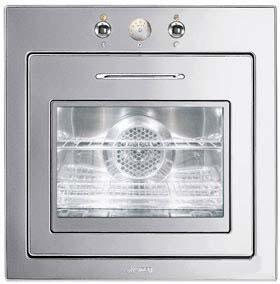 Smeg Piano Design FU675 Single Wall Oven Stainless Steel, Main Image