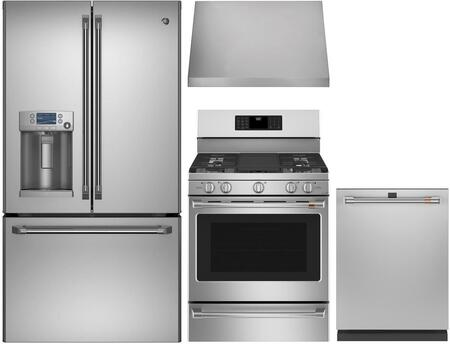 Cafe  1053527 Kitchen Appliance Package Stainless Steel, Main image