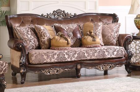 Cosmos Furniture Phoenix 3035CHPHO Stationary Sofa Brown, DL be33f3dec454328e29f2e4e028df