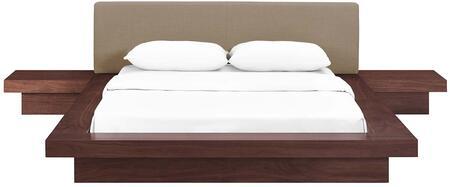 Modway Freja MOD5492WALLATSET Bedroom Set Brown, MOD-5492-WAL-LAT-SET Front View
