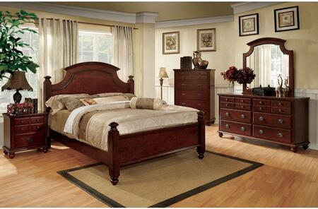 Furniture of America Gabrielle II CM7083QBDMN Bedroom Set Brown, Main Image