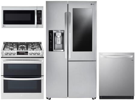 LG  1073235 Kitchen Appliance Package Stainless Steel, msin image