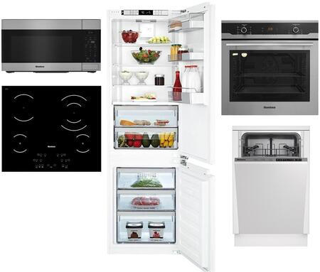 5 Piece Kitchen Appliances Package 22″ Bottom Freezer Refrigerator  24″ Single Wall Oven  24″ Electric Cooktop  18″ Built in Dishwasher and 30″ Over