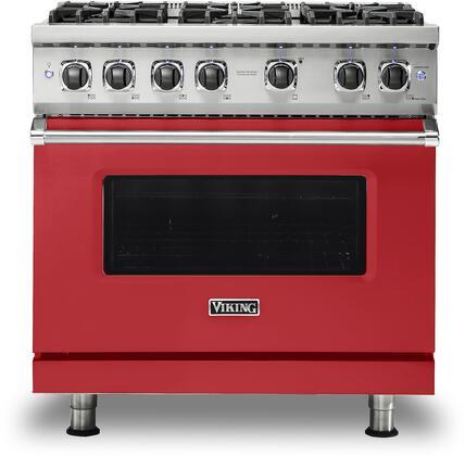 Viking 5 Series VGR5366BSM Freestanding Gas Range Red, VGR5366BSM Gas Range