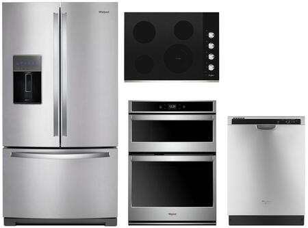 Whirlpool  1010006 Kitchen Appliance Package Stainless Steel, main image