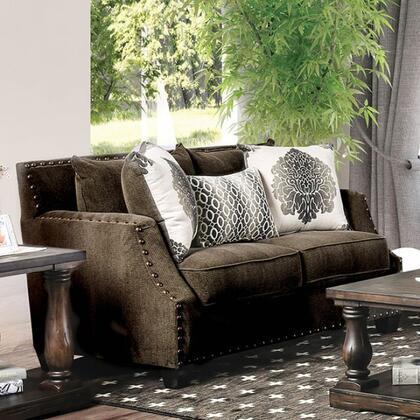 Furniture of America Cornelia SM3073LV Loveseat Brown, main image