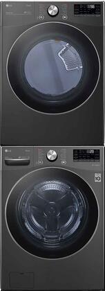 LG  1289217 Washer & Dryer Set Black, 1