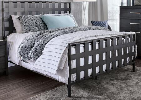 Furniture of America Earlgate CM7758CK Bed Gray, CM7758CK Main Image