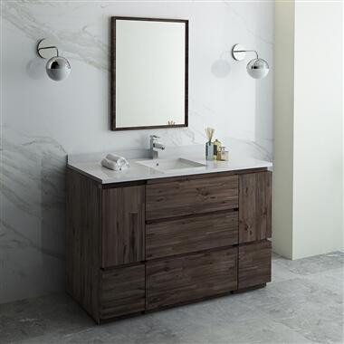 Formosa Collection FVN31-123012ACA-FC 54″ Floor Standing Modern Bathroom Vanity with