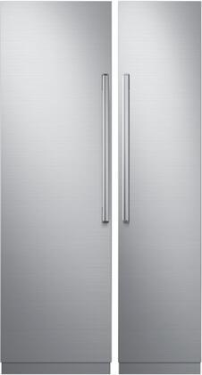 Dacor Contemporary 867771 Column Refrigerator & Freezer Set Silver Stainless Steel, 1