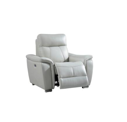 17051 43″ Chair with Electric Reclining  Pillow Top Arms and Eco-Leather Upholstery in Light