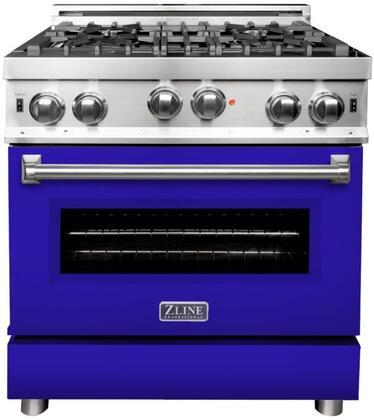 ZLINE RGBM30 Freestanding Gas Range Blue, RGBM30 Gas Range