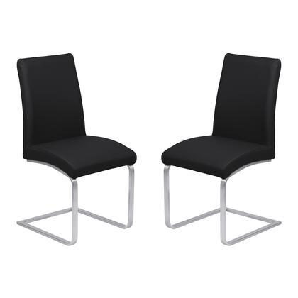 Armen Living Blanca LCBLSIBLBS Dining Room Chair Black, Dining Chairs