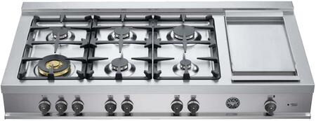 Bertazzoni Professional CB48M6G00X Gas Cooktop Stainless Steel, CB48M6G00X   48 Rangetop 6 Burners and Griddle