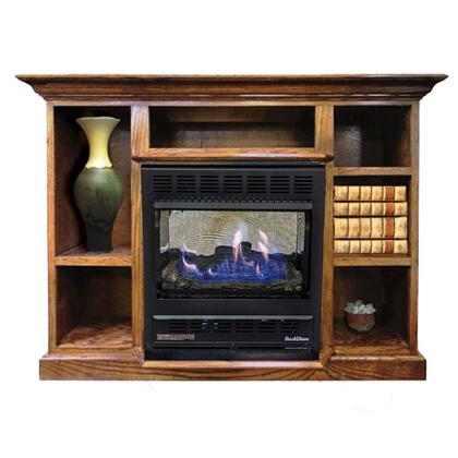 1127 Prestige Series NV 11272NATPRES-LO Mantel and Natural Gas Wood Stove Combo in Light
