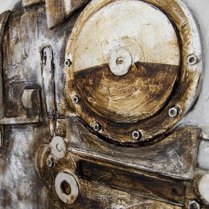 Engines and Wheels Collection 3230032 Full Steam Ahead II 63″ x 35.43″ Mixed Media Art in Multi