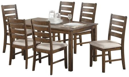Acme Furniture Salileo 74690 Dining Room Set Brown, 7 PC Set
