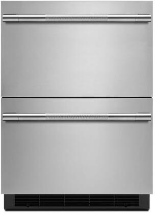 Jenn-Air Rise JUDFP242HL Drawer Refrigerator Stainless Steel, JUDFP242HL Front View