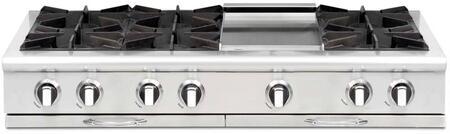 Capital Culinarian CGRT484G2 Gas Cooktop Silver, Burner Configuration