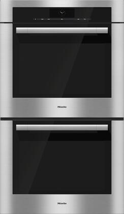 Miele M Touch H67802BP2 Double Wall Oven Stainless Steel, H67802BP2 ContourLine 30-Inch Double Convection Oven