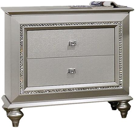 Acme Furniture Kaitlyn 27233 Nightstand Gray, Angled View